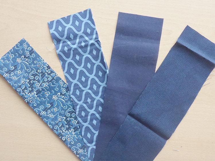 Folded Fabric Star Ornaments