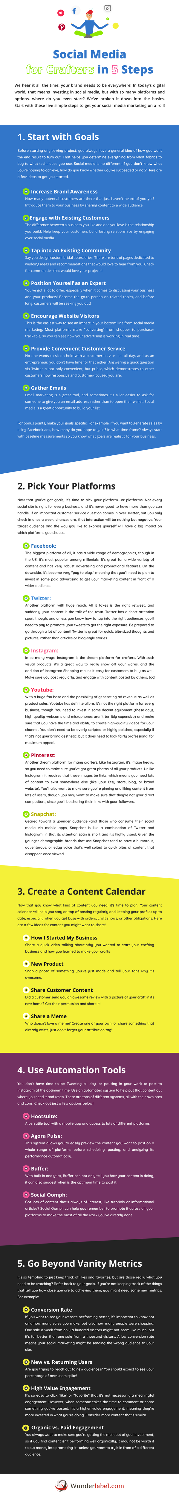 Social Media for Crafters in 5 Steps [Infographic]