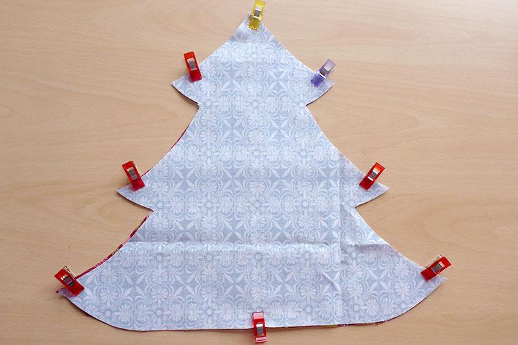 Weihnachtliches Tutorial zum Tannenbaum nähen