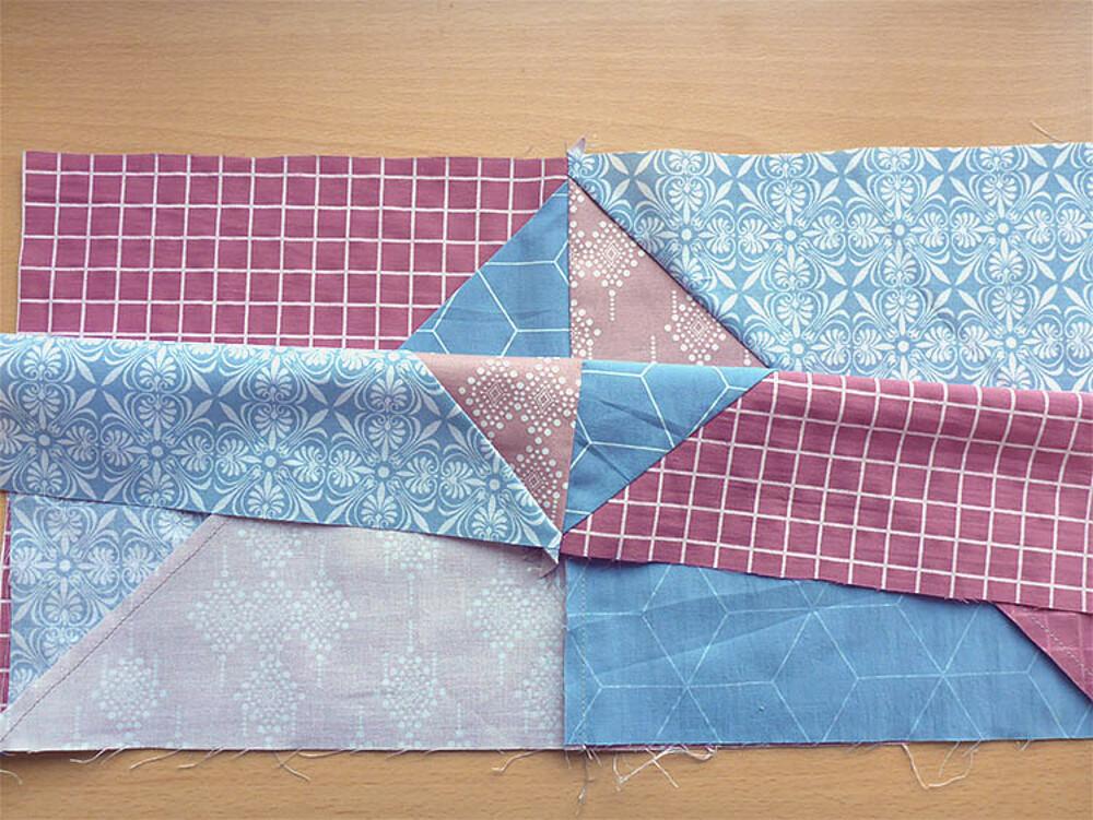 Come fare un cuscino patchwork: Post 3, cuciamo la parte davanti