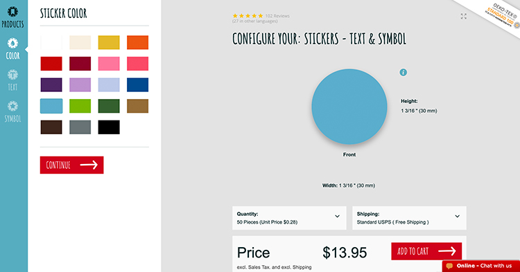 Create your own Stickers with the Wunderlabel Configurator