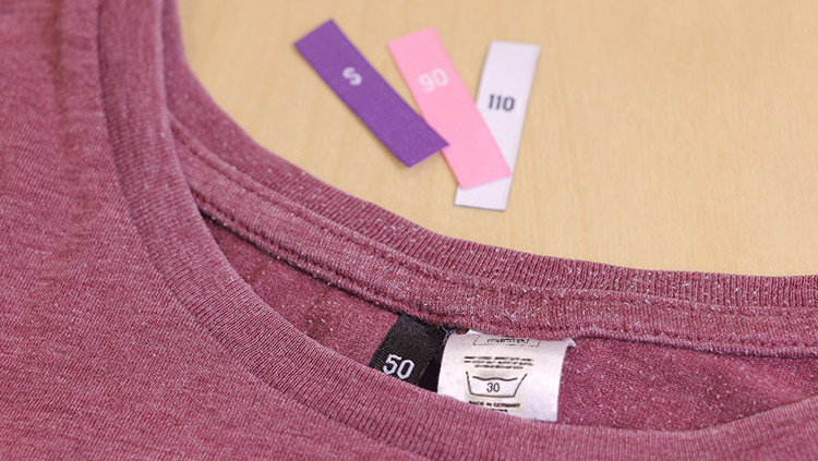 How to sew in size labels for clothing