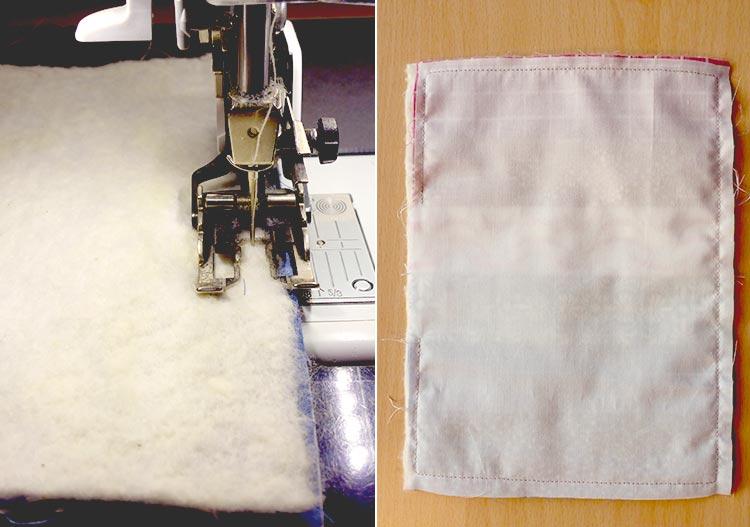 布製コースターをハンドメイド