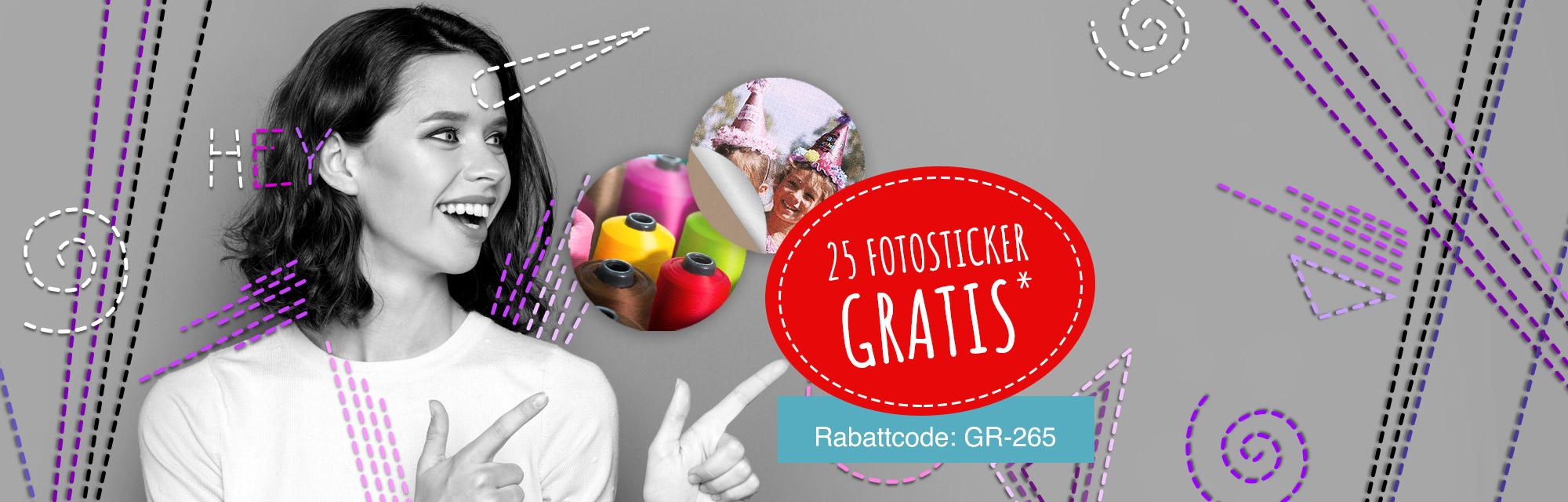 Azione gratuita: ti regaliamo 25 adesivi con la tua foto*!
