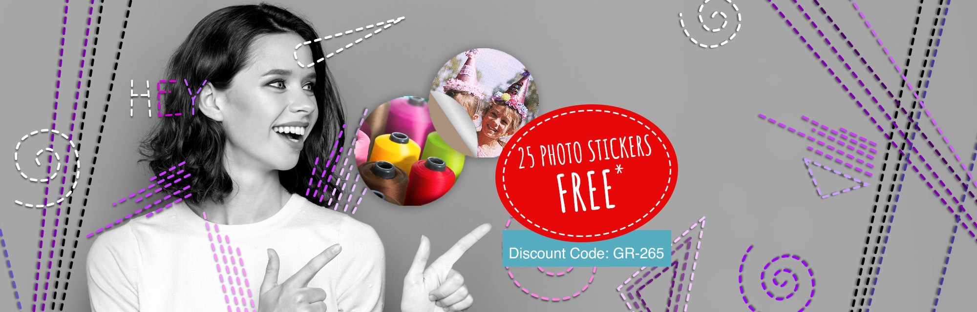 We are giving you 25 stickers with your photo*!