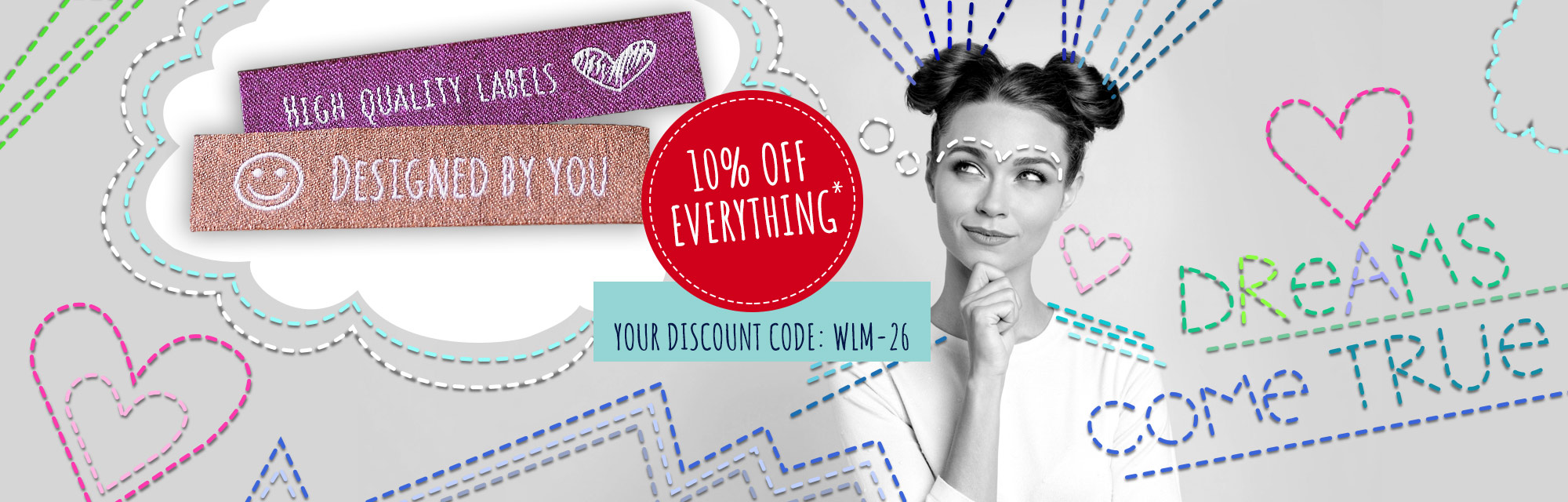 10% discount for your creative projects