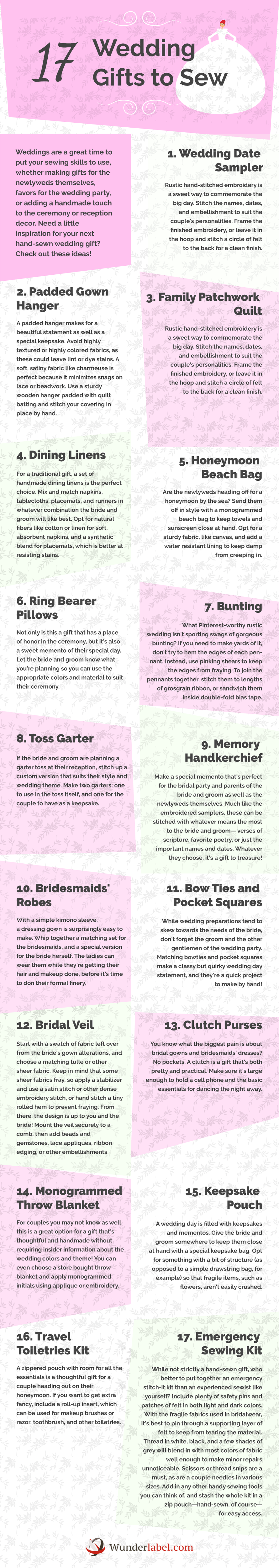 17 Wedding Gifts to Sew [Infographic]